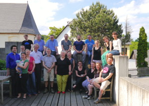 STS Summer School 2015 Department staff and PhD students with international guest commentators Wiebe Bijker and John Law.
