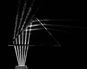 figure 2: Light Through Prism, Cambridge, Massachusetts, from the series Science, 1958-1961, photograph: Berenice Abbott, 1898-1991