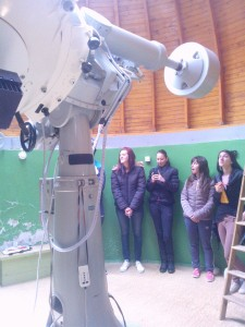 Student group visiting the Rozhen National Astronomical Observatory