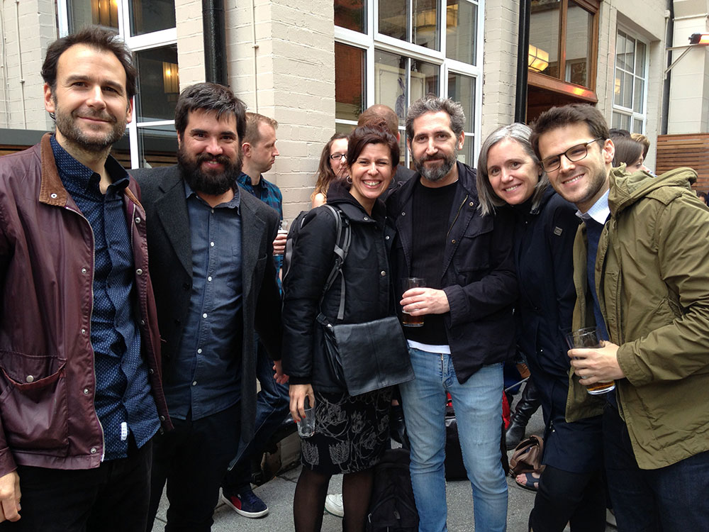 Fig. 1. Workshop participants, from left to right: Tomás Undurraga, Tomás Ariztía, Mariana Heredia, Martín de Santos, Ana Gros, Gustavo Onto